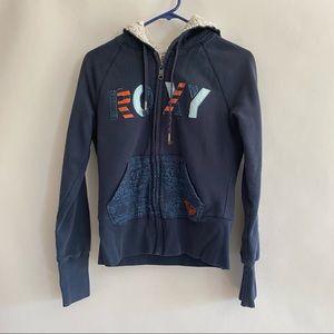 Roxy sweatshirt blue with fleece lining size M
